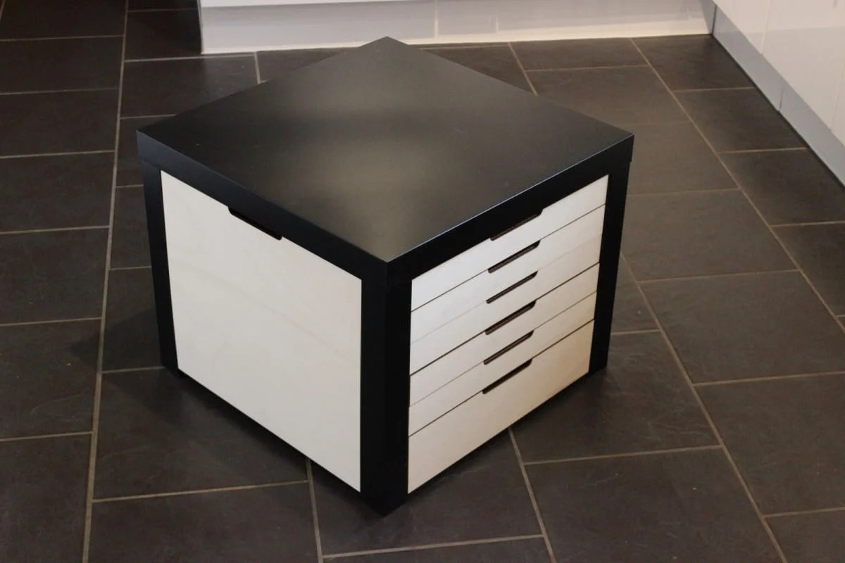 Ikea Lack Duplo Lego Storage Drawers Beautifully Built Into Lack Table