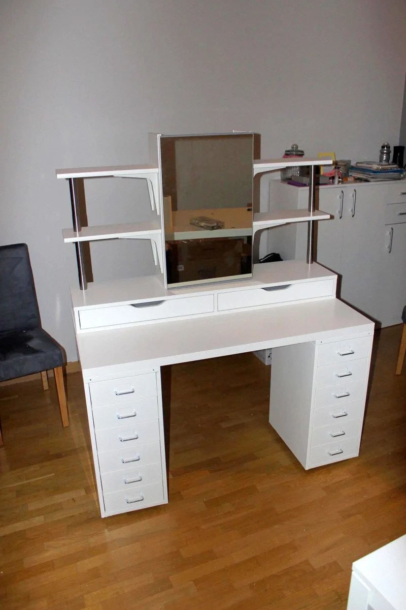 Ikea Adjustable Table Legs An Affordable Ikea Dressing Table (makeup Vanity) - Ikea