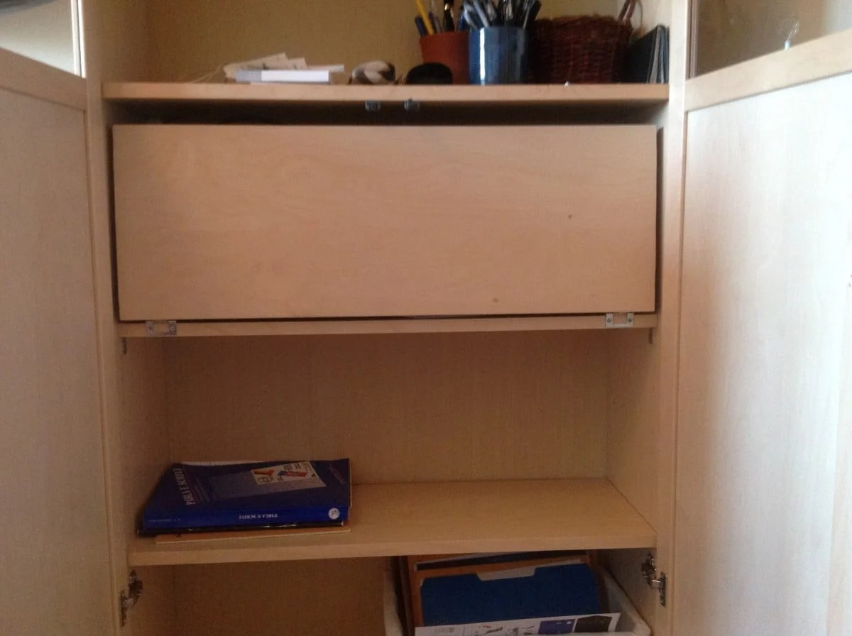 Secret Billy Bureau The Stealthy Bookshelf Desk Ikea Hackers