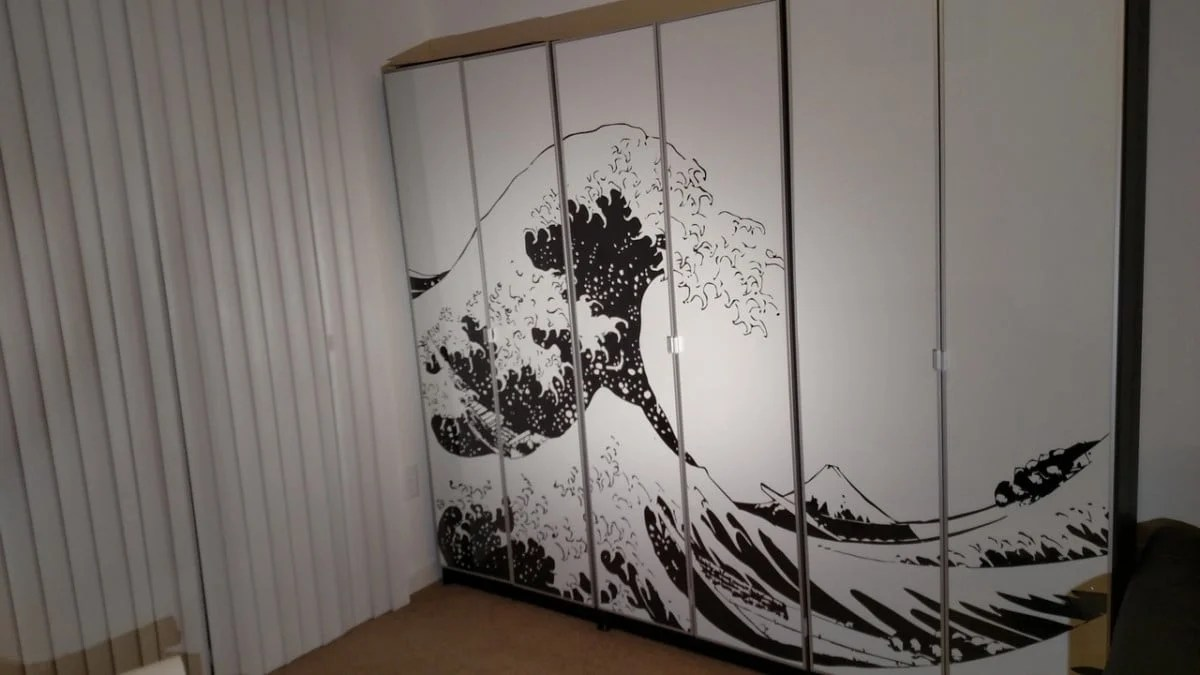 Glass Wall Art Australia Turn Billy Bookcases Into Bold Large Wall Art Ikea Hackers