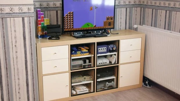 Ikea Cabinet Hinges How To Make An Expedit Retro Gaming Cabinet - Ikea Hackers
