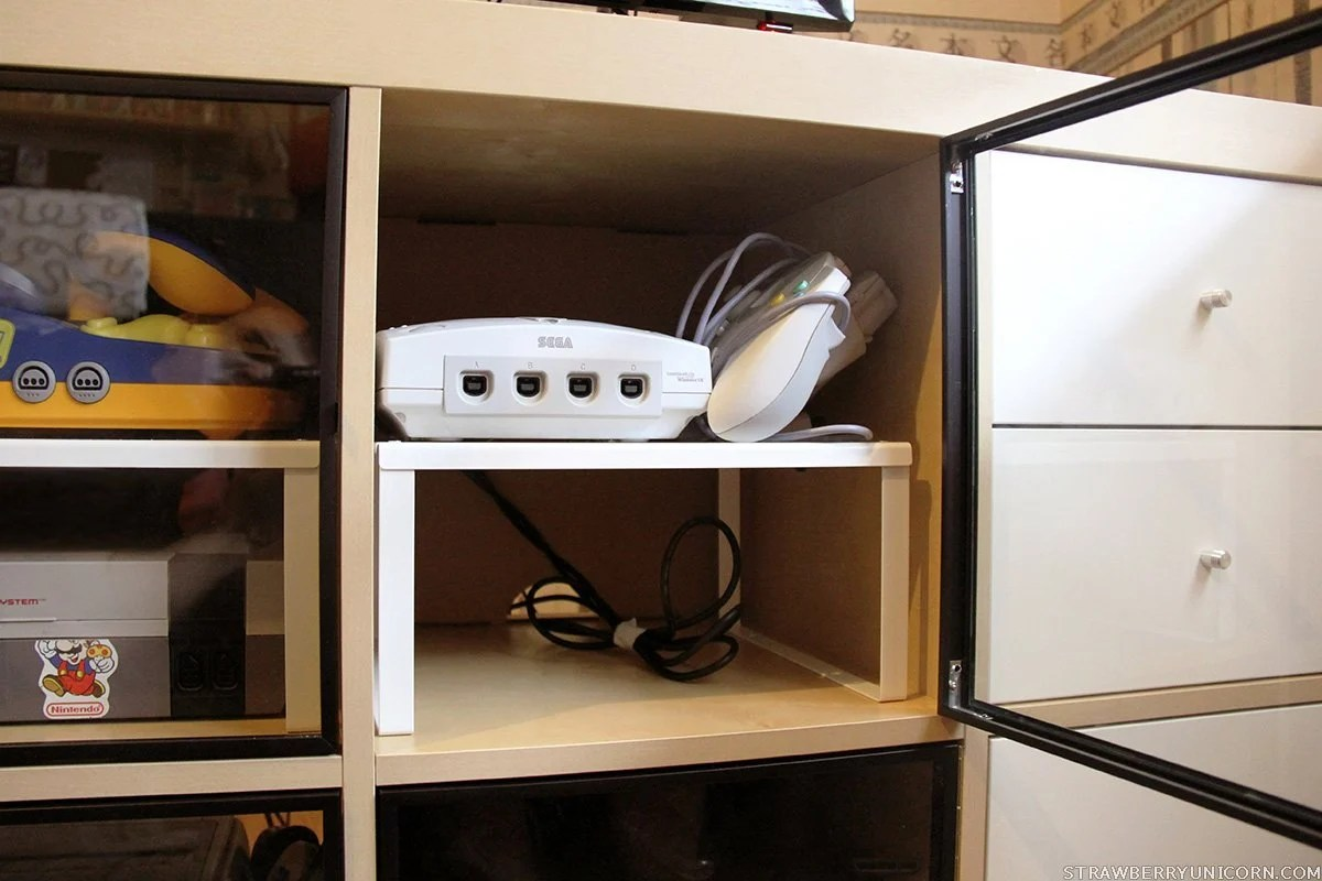 Ikea Hacks Kallax How To Make An Expedit Retro Gaming Cabinet Ikea Hackers