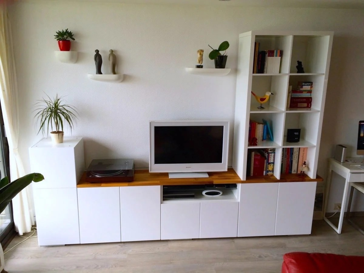 Ikea Hackers Bureau Tv Unit From Ikea Metod Kitchen Cabinets Ikea Hackers