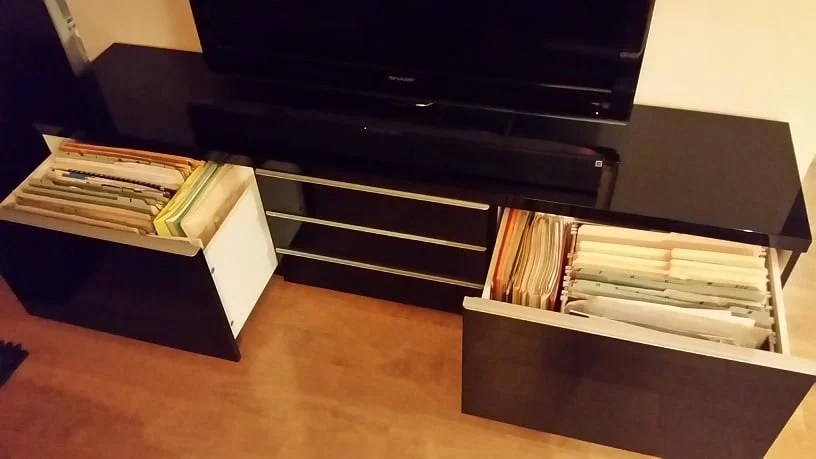 Horizontal Besta Filing Cabinet Ikea Hackers