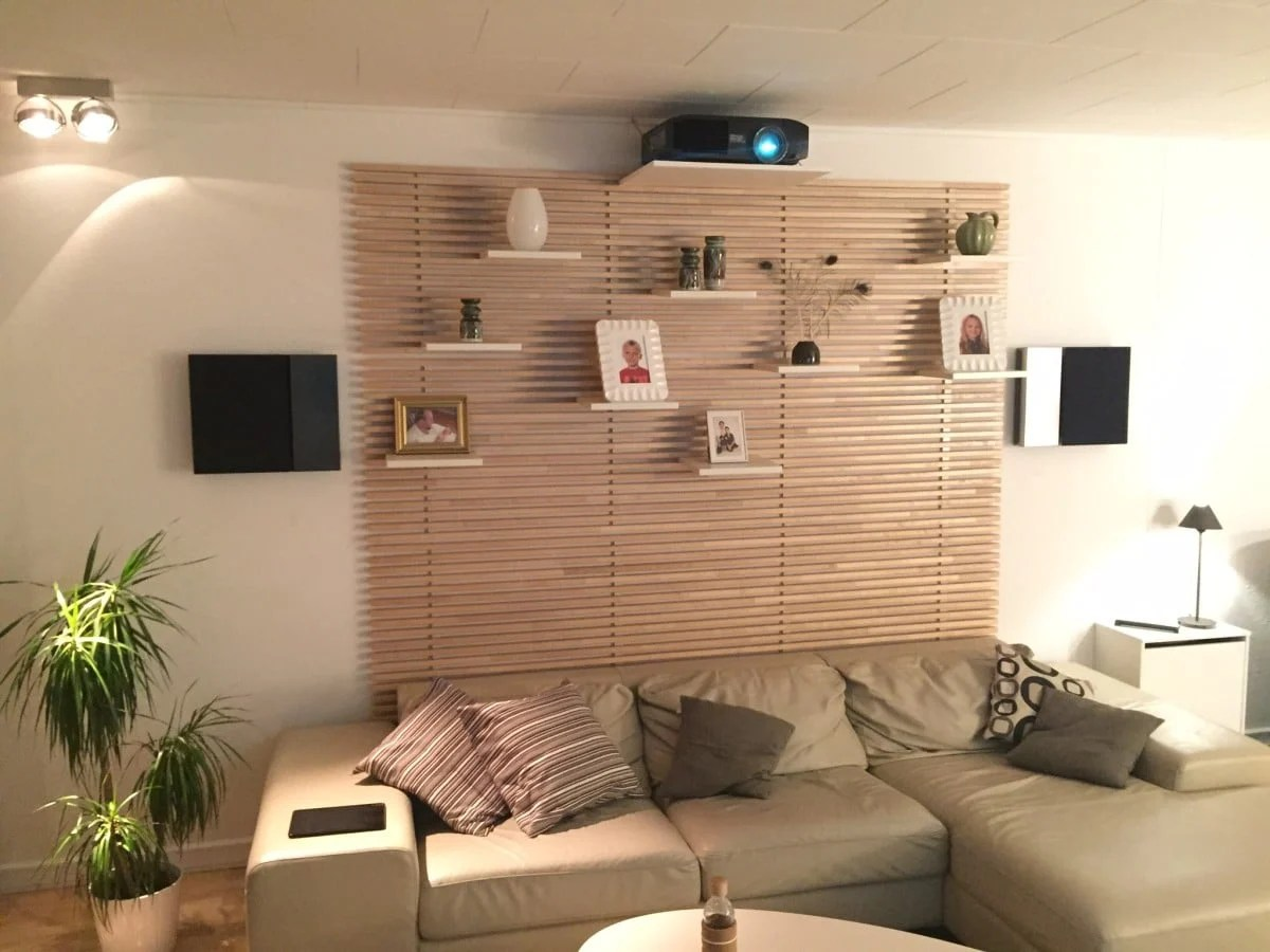 Ikea Mandal Ideas Living Room Home Cinema My Stylish Projector Mount And Hidden