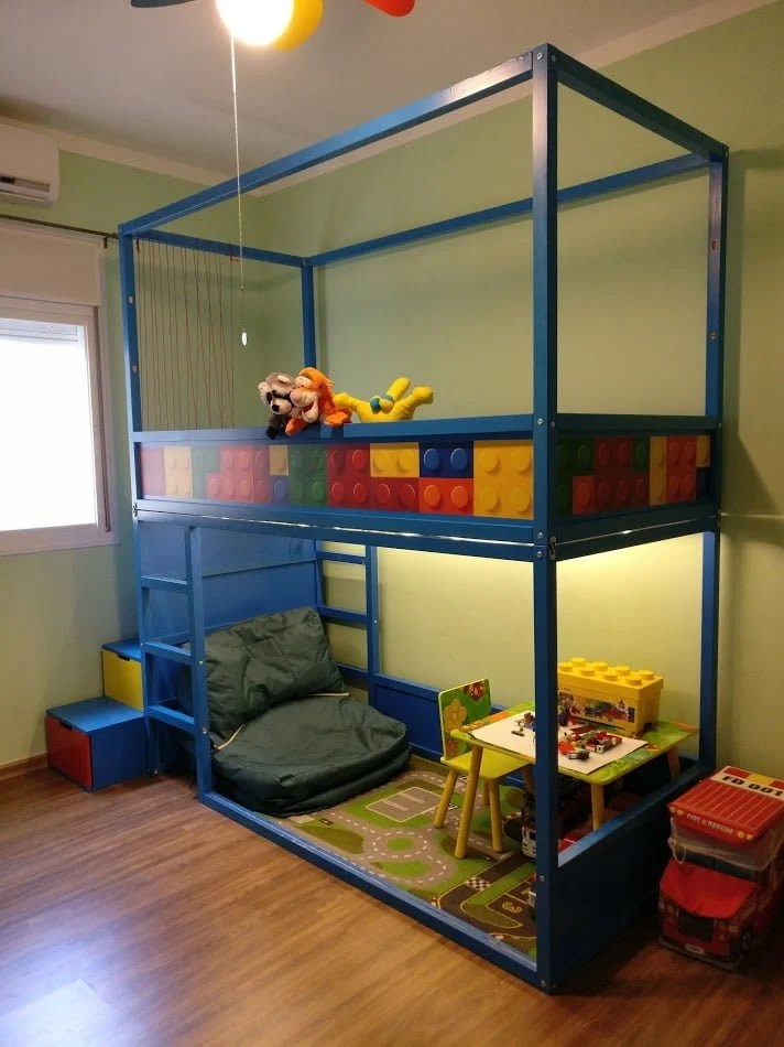 1 40 Bett Kids Loft Kura Bed With Nordli Stairs - Ikea Hackers