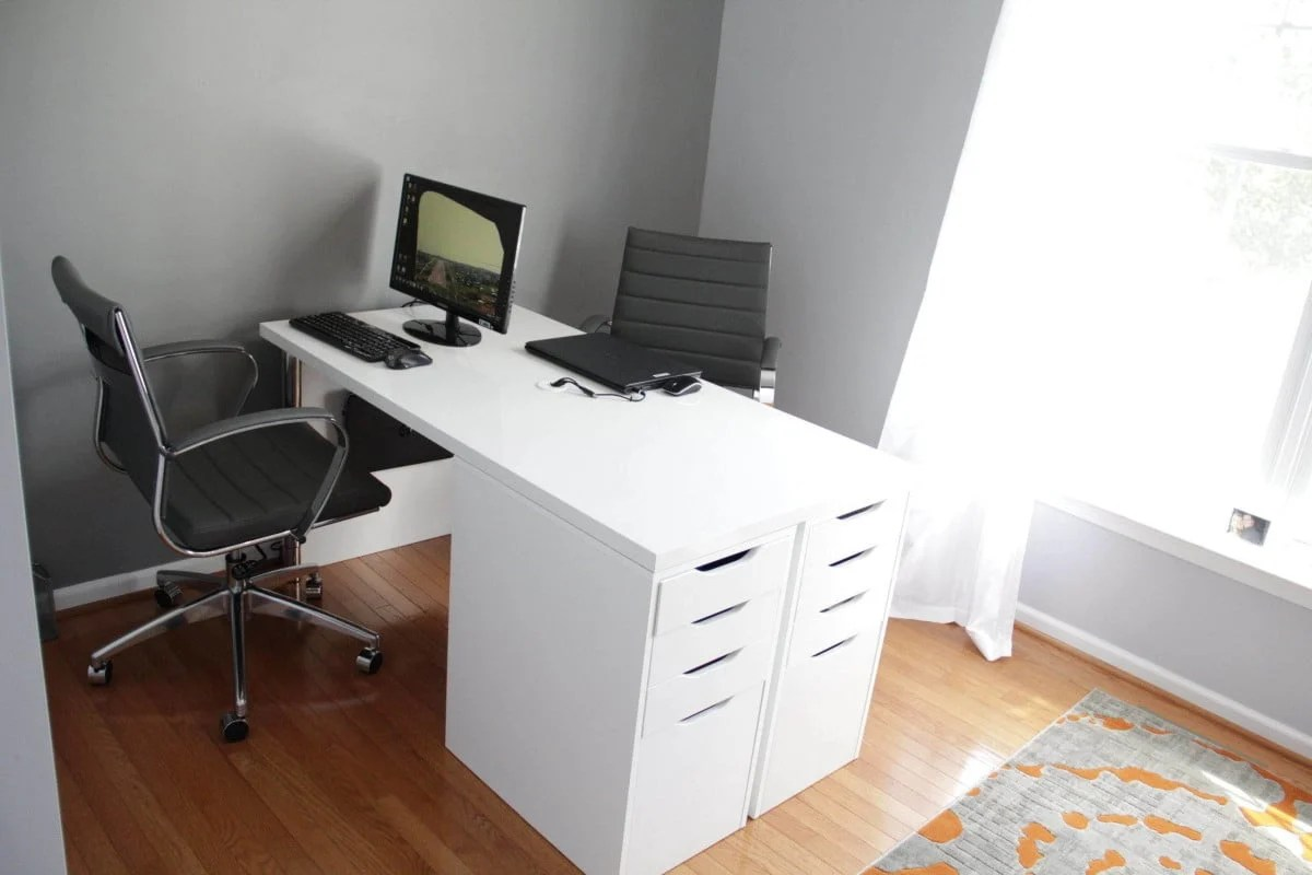Ikea Desk Top Ikea Minimalist Two Person Desk Ikea Hackers