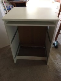 Long wooden home office / study bench desk