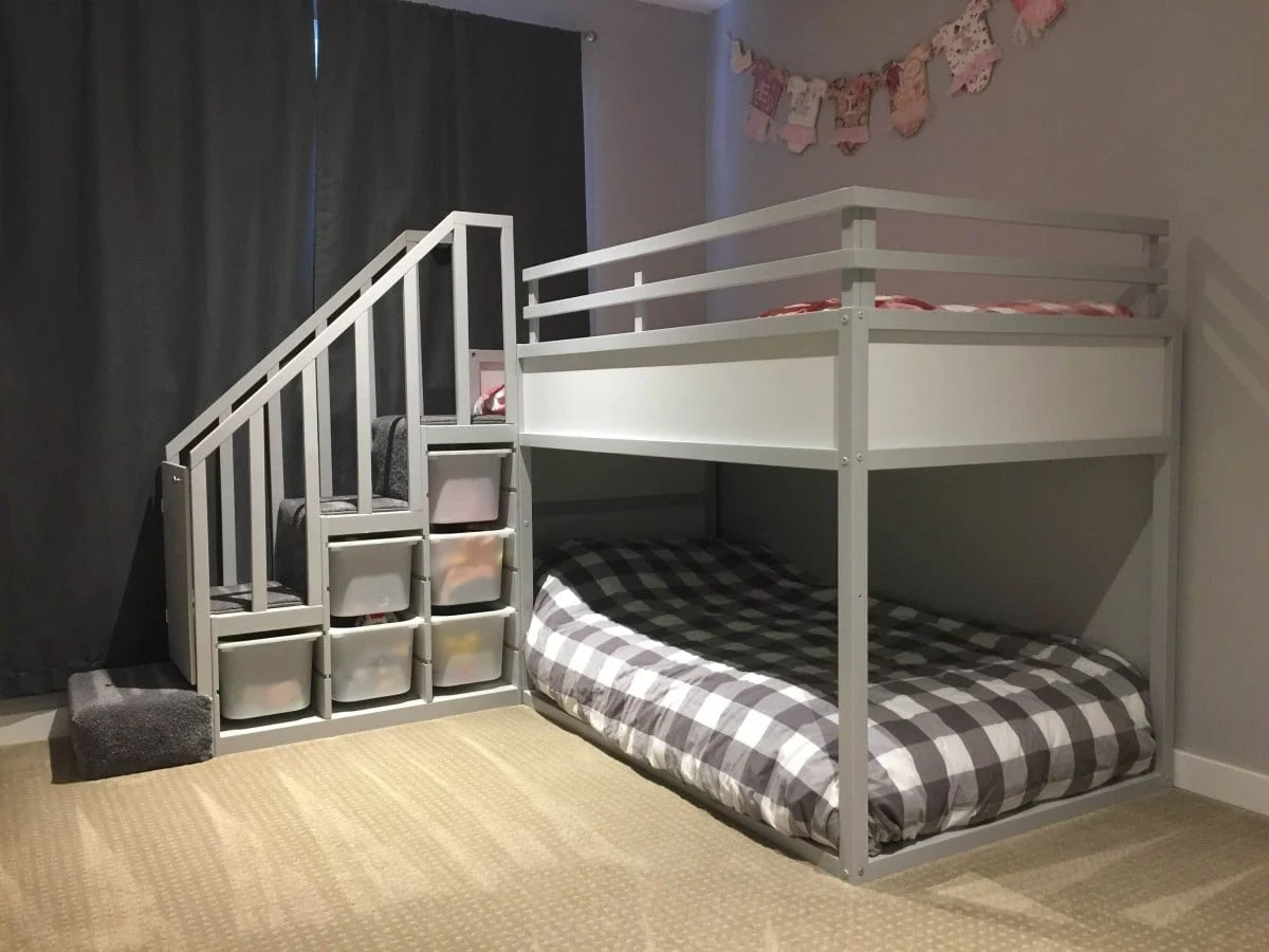 Ikea Bed Rail Kura Bunk Bed Hack For Two Toddlers - Ikea Hackers