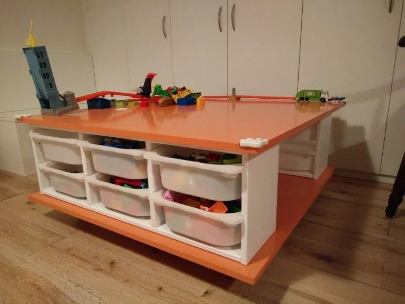 Meuble Trofast Ikea Occasion Make A Mobile Play Table - Ikea Hackers - Ikea Hackers