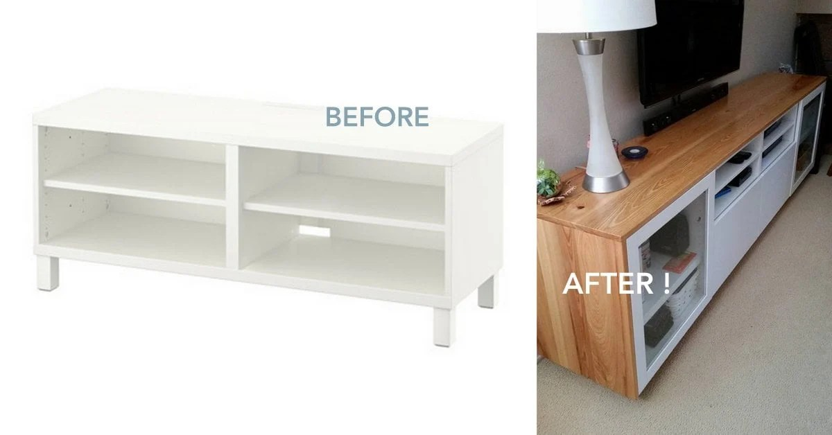 Lowboard Tv Diy Wood You Like To Give Your Ikea BestÅ Tv Unit A New Look