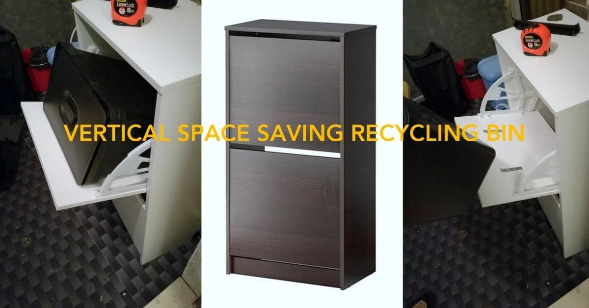Ikea Kitchen Cabinet Bins Stack Your Trash: A Vertical Space-saver For Trash