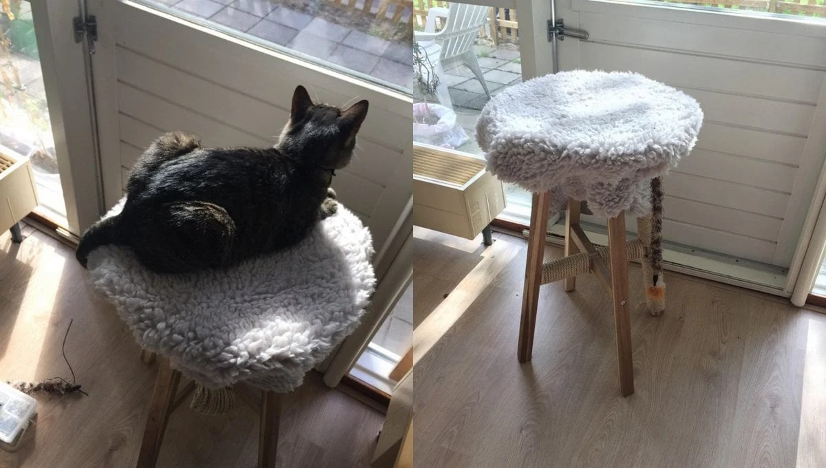 Ikea High Table Light Scratching Post For Heavy Cat - Ikea Hackers - Ikea