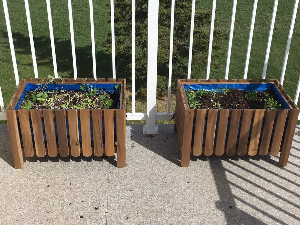 Balcony Planter Ikea Diy Raised Bed Liner For Askholmen Planter Ikea Hackers