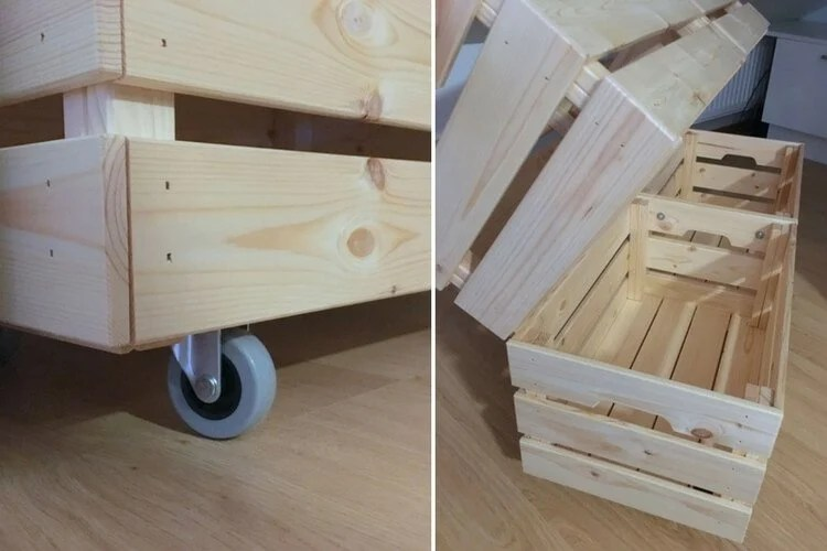 Ikea Cabinet Hinges Rolling Laundry Cart Made From Affordable Ikea Crates