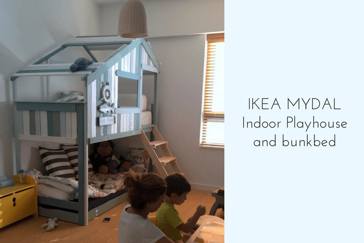 Ikea Bed Frame Make An Indoor Playhouse + Bunk Bed: Ikea Mydal Hack
