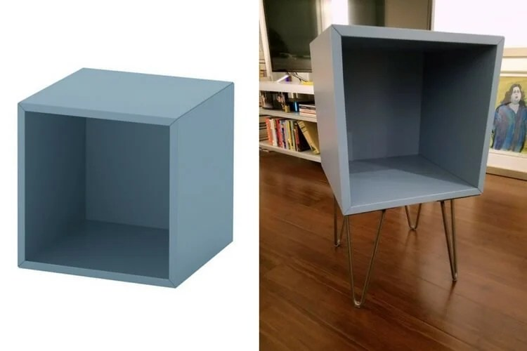 Hairpin Legs Ikea Turn The Eket Cube Into A Hairpin Leg Nightstand - Ikea