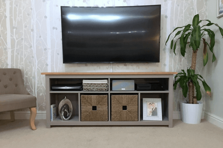 Dining Room Lighting Ikea Hemnes Console Table Restyled To Tv Unit - Ikea Hackers