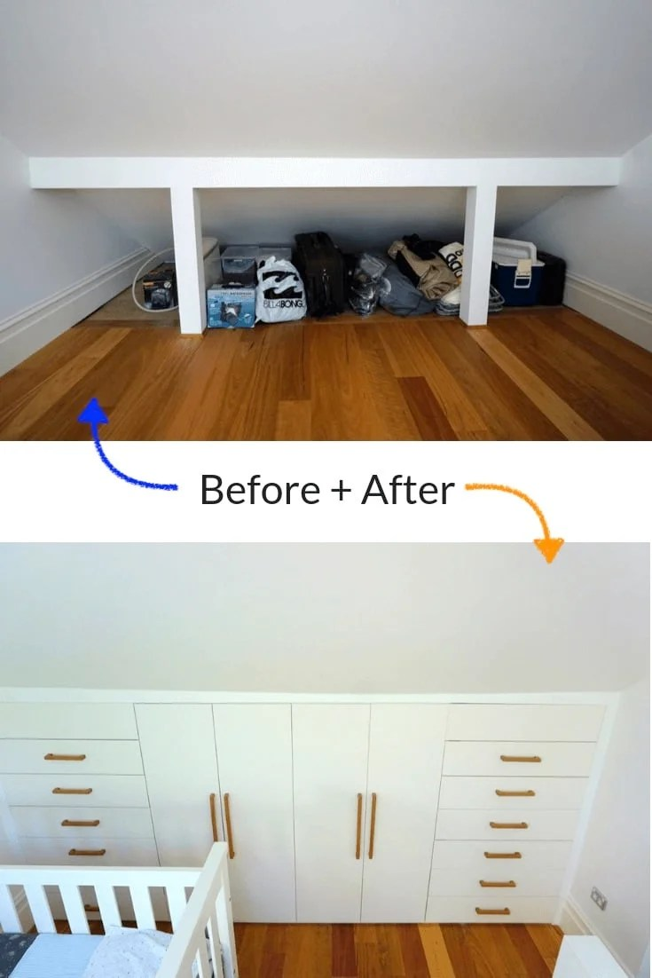 Used Ikea Kitchen Cabinets The Best Under-eaves Wardrobe Hack Yet - Ikea Hackers