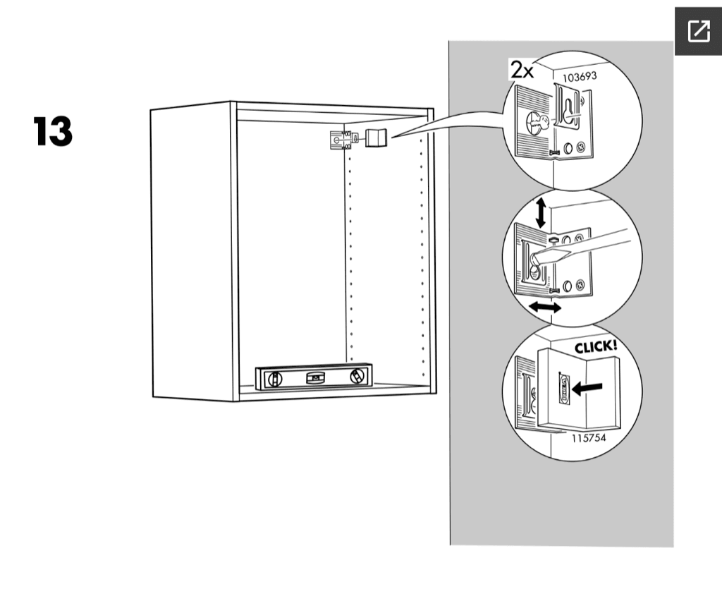 Ikea Faktum Assembly Instructions Hackers Help Faktum Wall Cabinets On Metod Rails Ikea