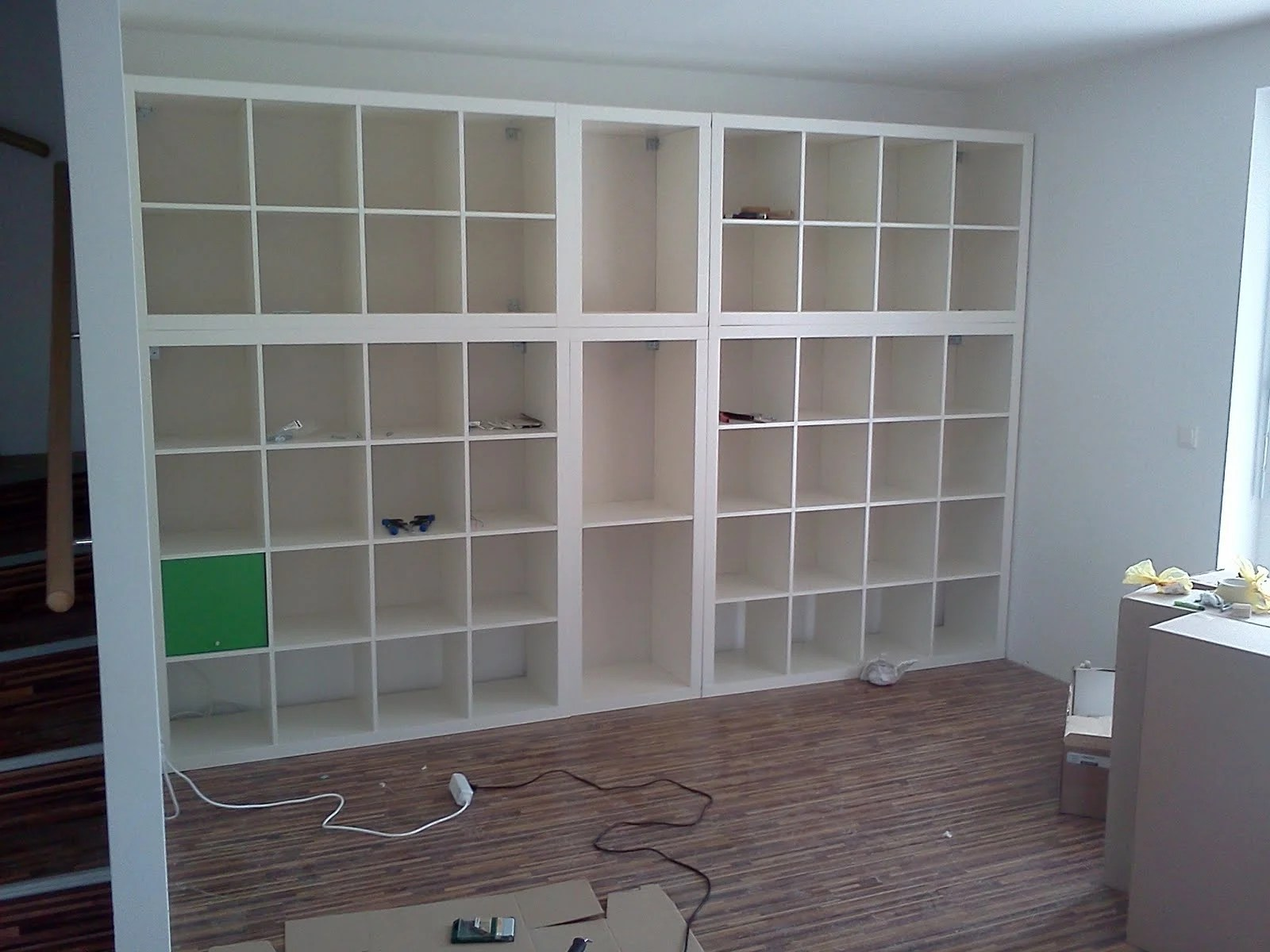 Bibliothèque Expedit Wall Fitted Expedit Book Shelf Ikea Hackers