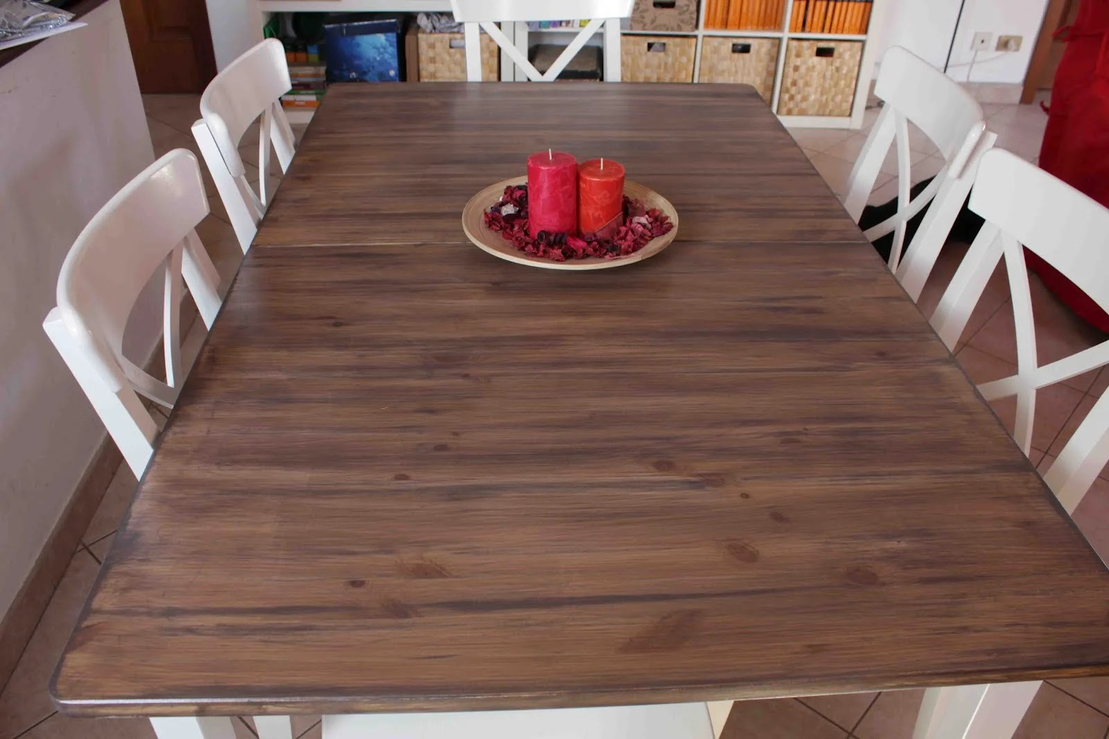 ikea solid wood kitchen table wood kitchen tables Hack A Country Kitchen Style Dining Table IKEA Hackers IKEA