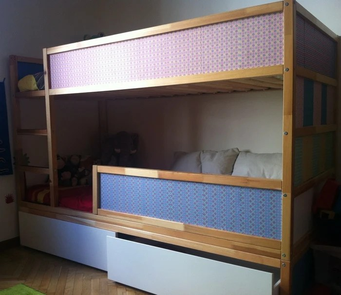 Malm Bett 2 Lattenroste Kura Bunk Bed With Underbed Storage - Ikea Hackers