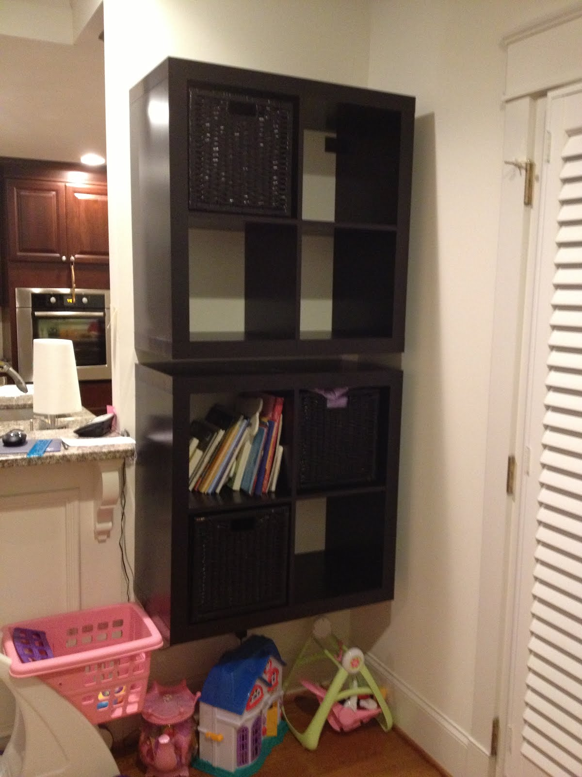 Ikea Expedit Wardrobe How To: Mount A Safe Floating 2 X 4 Expedit Shelf - Ikea