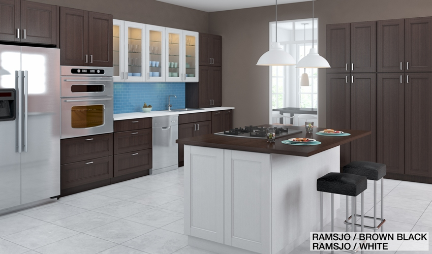 Ramsjo Kitchen Cabinets Design Ideas: Combine Colors And Materials For Your Ikea