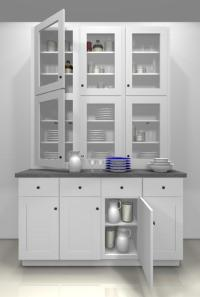 Kitchen design ideas: glass doors for a china cabinet
