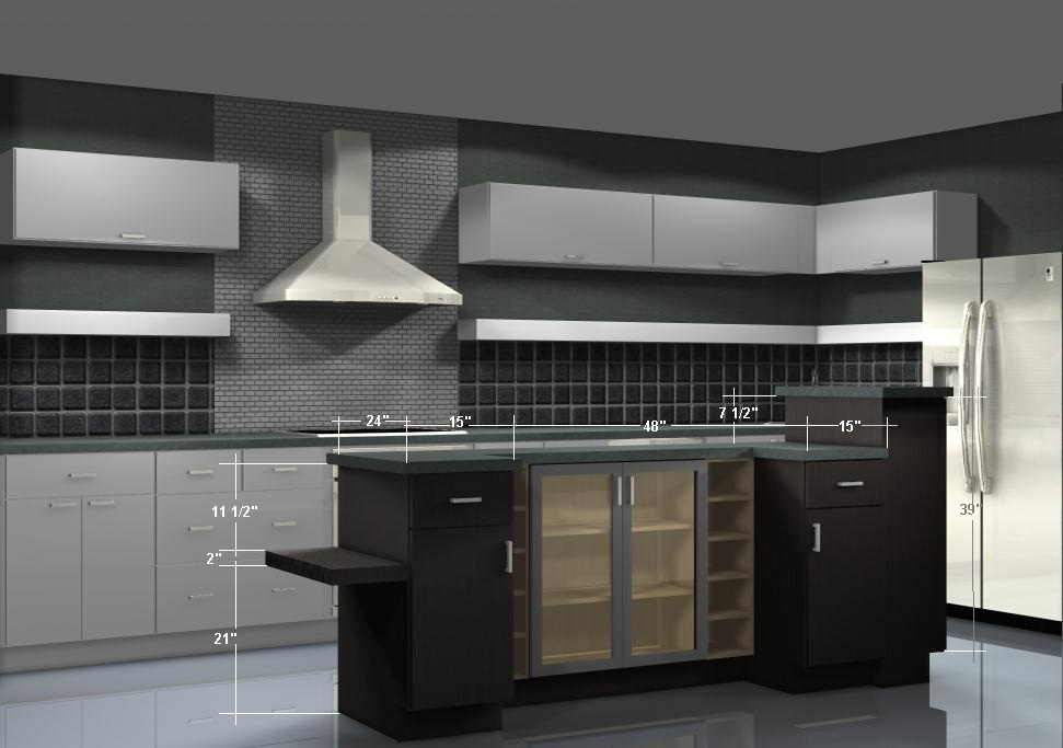 Using Wall Cabinets As Bases For A Unique Kitchen Island