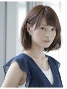 秋 ミディアム 髪型 レディース 人気、1