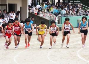 2年男子千五百㍍・松下翔紀(右)
