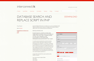 WordPress Serialized PHP Search Replace Tool   Interconnect IT   WordPress Consultants  Web Development and Web Design