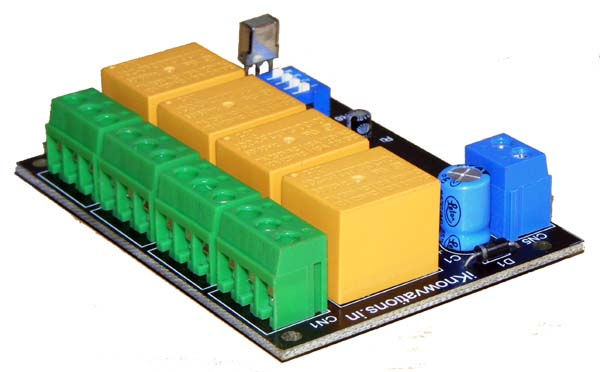 4 channel infrared remote control relay board-1 -iknowvations.in