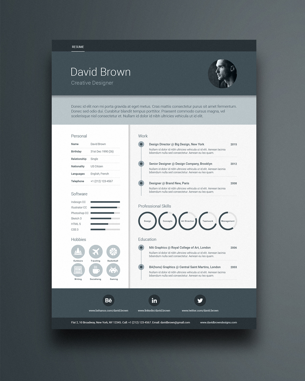 resume templates adobe create a professional resume adobe indesign cc tutorials free material design resume template - Adobe Resume Template