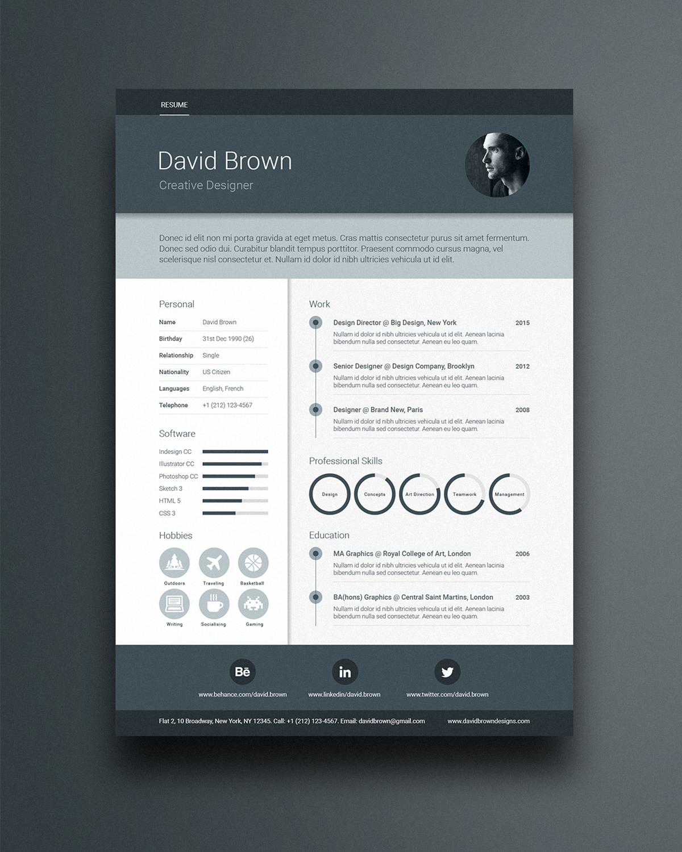 material cv resume template