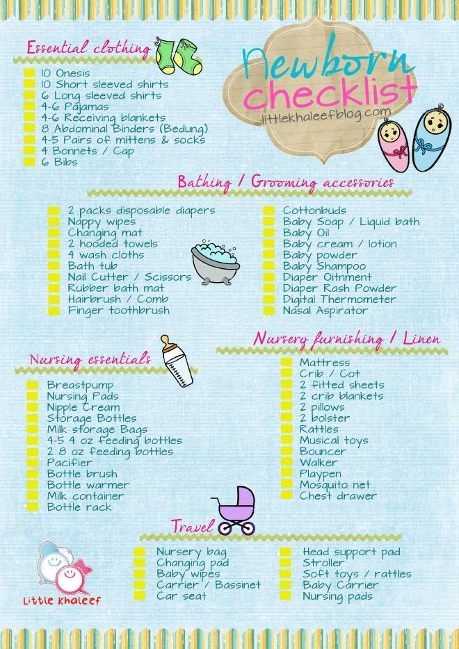 Newborn Checklist Daddy Ikram - newborn checklist