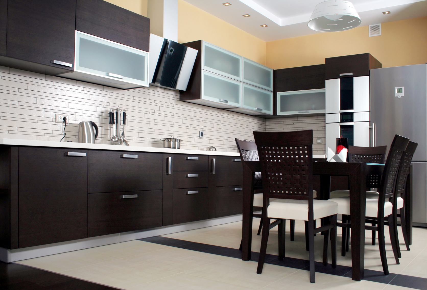 Modern Kitchen Colors With Dark Cabinets Black Modern Kitchen Cabinet Design 2016