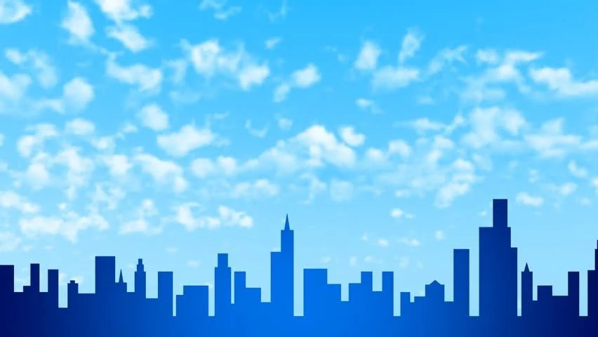 Superhero Wallpaper Hd Download A Cloudy City Scene With The Morning Sky As A Backdrop