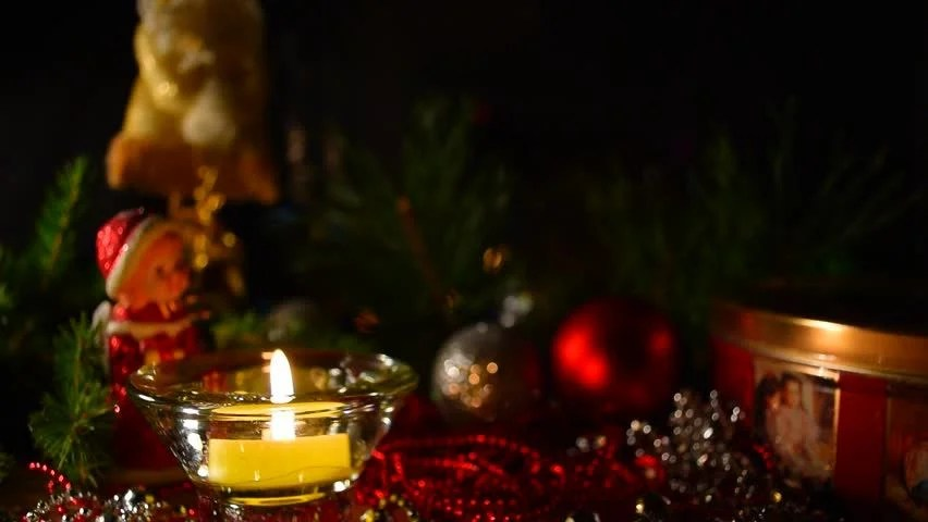 Life Is A Gift Quotes Wallpaper One Candle Lights Up On An Advent Wreath Stock Footage