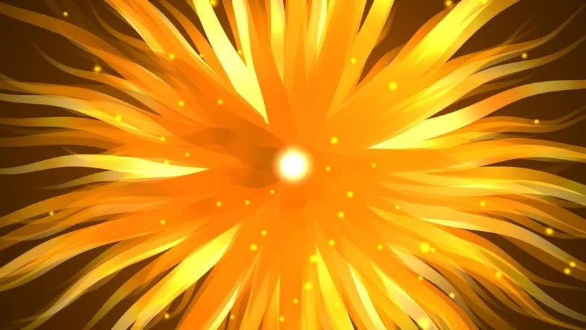 3d Motion Wallpaper Download Yellow Orange Floral Background Abstract Background 63