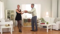 Senior Couple Dancing In Living Room Stock Footage Video