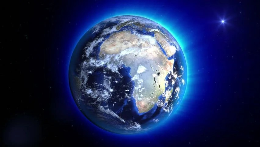 Animated Wallpaper Windows 8 Free Download A Glowing Planet Earth Rotating In The Middle Of A Moving