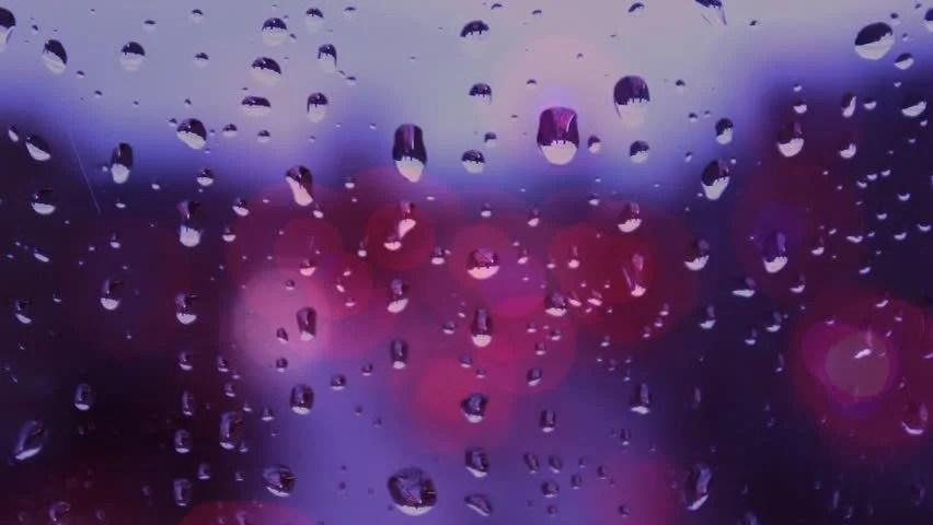 Raindrops Falling On Flowers Wallpaper Rain Drops On Window Glass Bokeh Lights Traffic Lights In