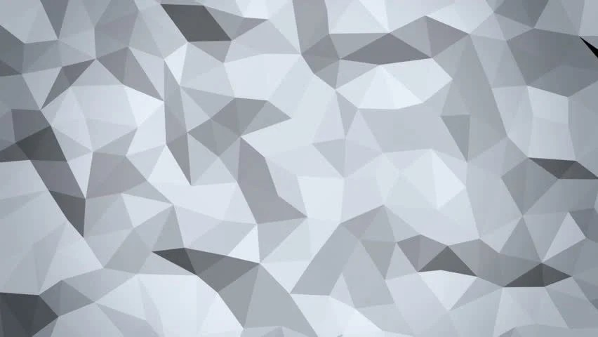 3d Stereoscopic Mural Wallpaper White Low Poly Abstract Background Seamlessly Loopable