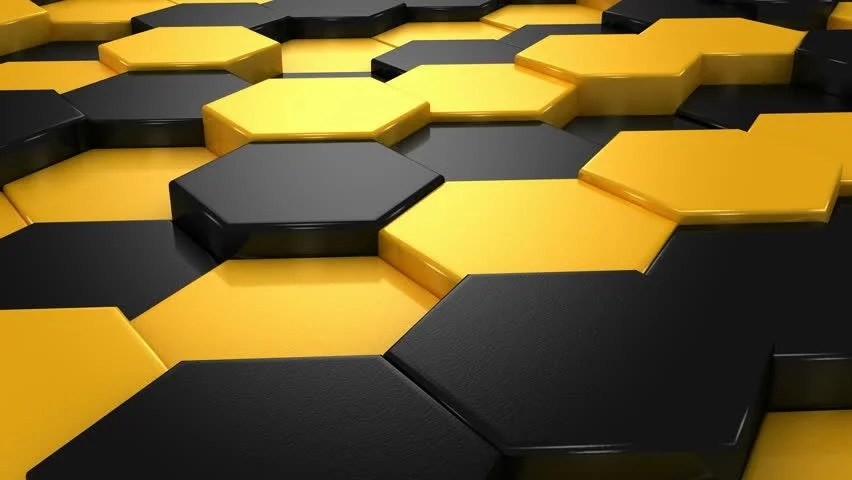 3d Motion Wallpaper Download Yellow And Black Cubes Animation Abstract Background