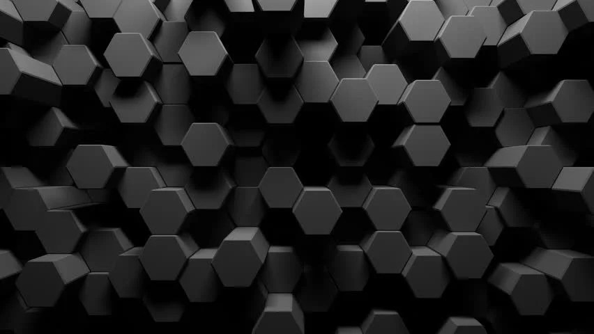 3d Black Background Wallpaper Displacement Map Footage Stock Clips