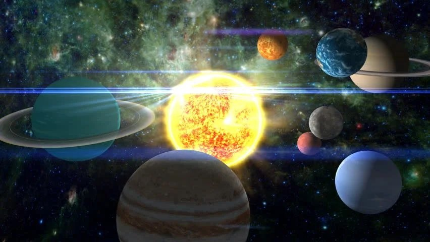 3d Moving Solar System Wallpaper Approaching Our Solar System With All The Planets