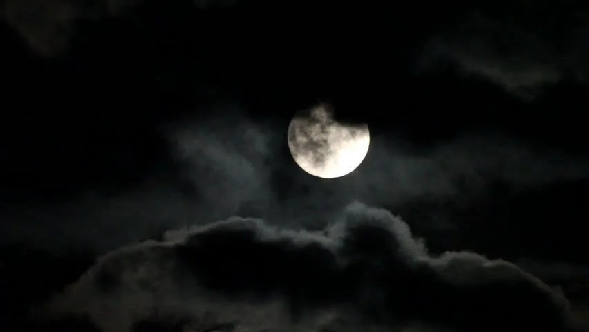 3d Halloween Live Wallpaper Dark Night Sky With A Full Moon Shining Bright As Clouds